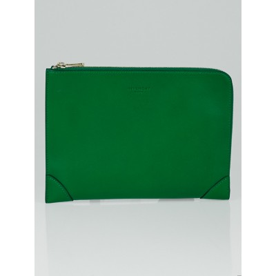 Givenchy Green Lambskin Leather Lucrezia Pouch Bag