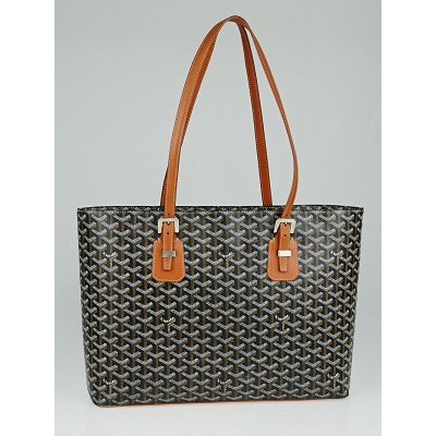 Goyard Black Chevron Print Coated Canvas Okinawa PM Tote Bag