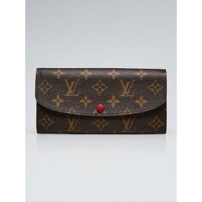 Louis Vuitton Monogram Canvas Fuchsia Emilie Wallet