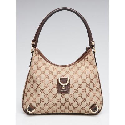 Gucci Beige/Brown Abbey D-Ring Small Hobo Bag