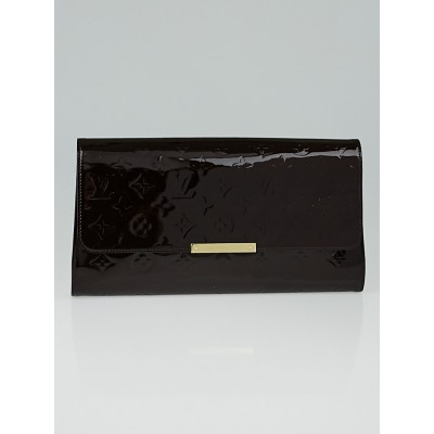 Louis Vuitton Amarante Monogram Vernis Robertson Clutch Bag