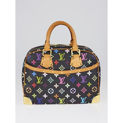 Louis Vuitton Black Monogram Multicolor Trouville Bag