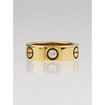Cartier 18k Yellow Gold and 3 Diamonds LOVE Ring Size 4.5/48