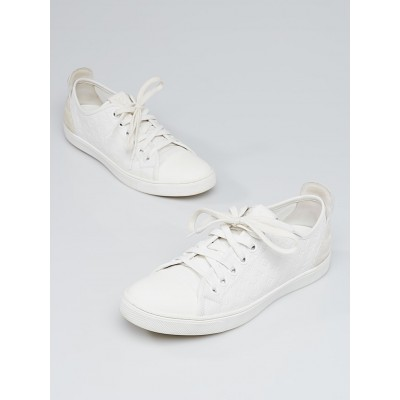 Louis Vuitton White Monogram Calfskin Leather Punchy Sneakers Size 8.5/39