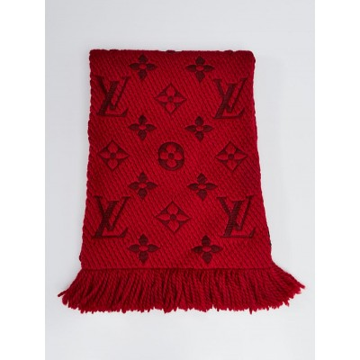 Louis Vuitton Ruby Wool/Silk Logomania Scarf
