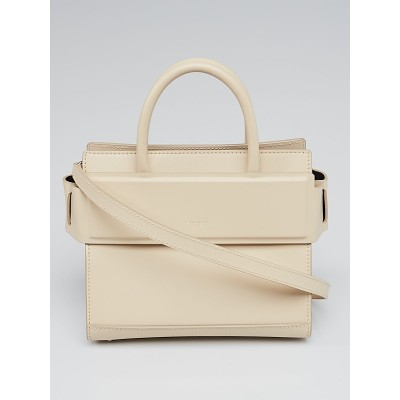 Givenchy Nude Smooth Calfskin Leather Mini Horizon Tote Bag