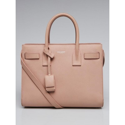 Yves Saint Laurent Light Pink Grained Calfskin Leather Baby Sac de Jour Bag