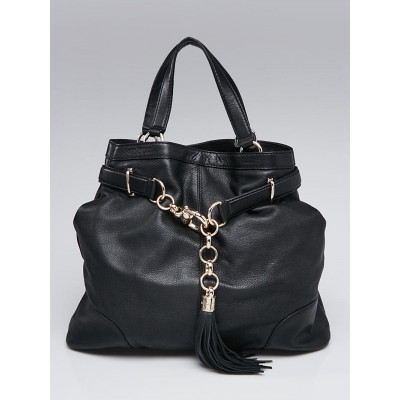 Gucci Black Leather Sienna Tote Bag