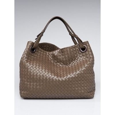 Bottega Veneta Brown Intrecciato Woven Nappa Leather Seamless Tote Bag