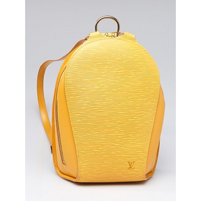 Louis Vuitton Yellow Tassil Epi Leather Mabillon Backpack Bag