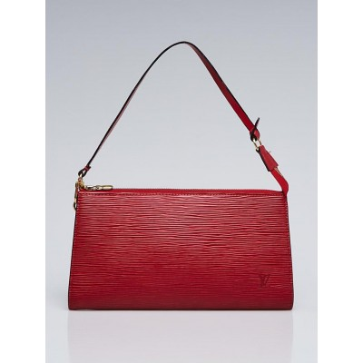 Louis Vuitton Red Epi Leather Accessories Pochette 24 Bag