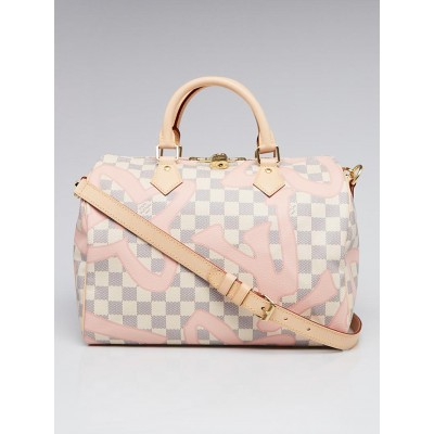 Louis Vuitton Limited Edition Damier Azur Tahitiennes Canvas Speedy 30 Bandouliere Bag
