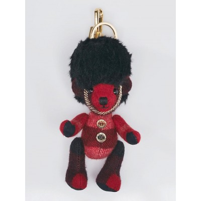 Burberry Parade Red Check Cashmere The Guardsman Thomas Bear Charm