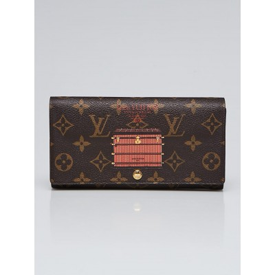 Louis Vuitton Limited Edition Monogram Canvas Inventeur Trunks & Lock Sarah Wallet