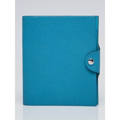 Hermes Turquoise Togo Leather Ulysses PM Agenda Cover