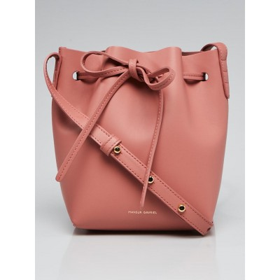 Mansur Gavriel Blush/Blush Vegetable Tanned Leather Mini Mini Bucket Bag