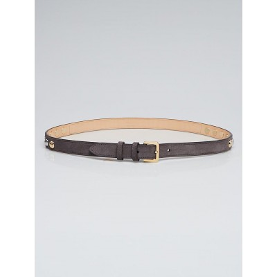 Louis Vuitton Grey Suede and Spike It Belt Size 85/34