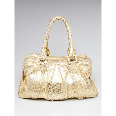 Burberry Prorsum Gold Snakeskin Knight Bag