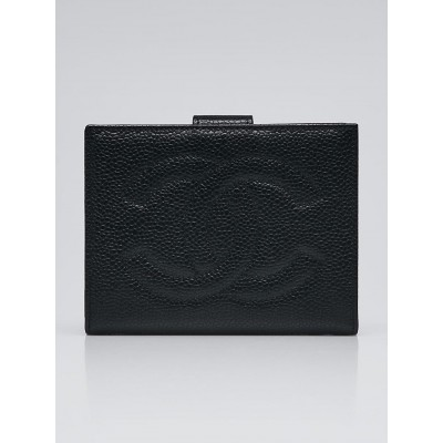 Chanel Black Leather CC Compact Wallet