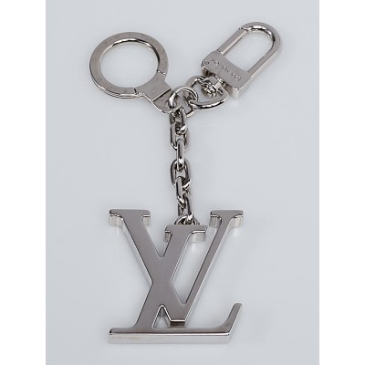 Louis Vuitton Silver LV Initiales Key Holder and Bag Charm