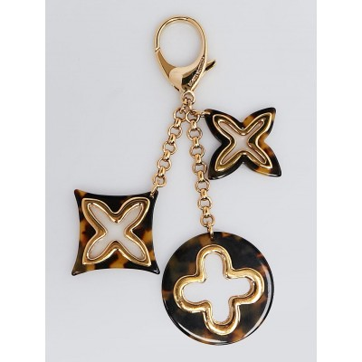 Louis Vuitton Tortoise Shell Resin Insolence Key Holder and Bag Charm