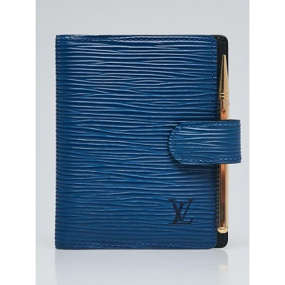 Louis Vuitton Cyan Epi Leather Small Card Holder Wallet