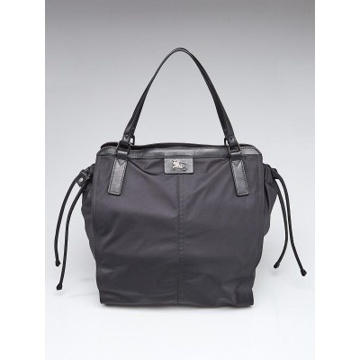 Burberry Black Nylon Buckleigh Small Packable Tote Bag