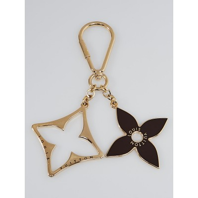Louis Vuitton Brown and Gold Puzzle Key Ring and Bag Charm