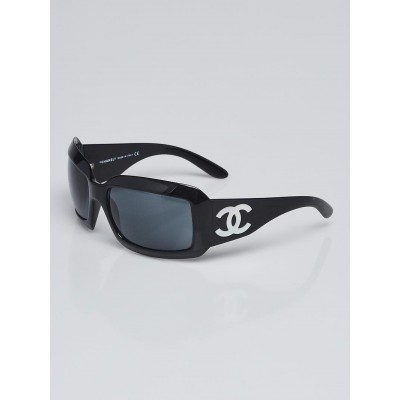 Chanel Black Frame CC Mother of Pearl Sunglasses- 5076-H