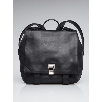 Proenza Schouler Black Leather PS Courier Backpack Bag