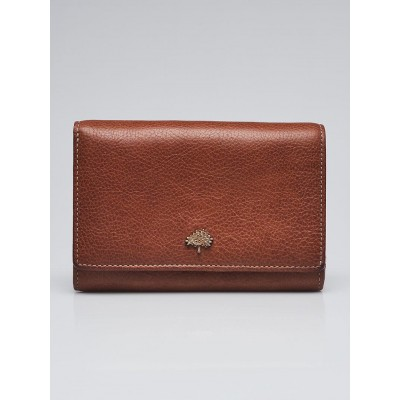 Mulberry Brown Leather Compact Wallet