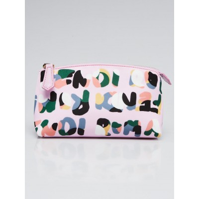 Fendi Pink Roma Print Nylon Large Cosmetic Pouch 8N0114