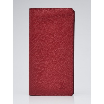 Louis Vuitton Rouge Taurillon Leather Brazza Wallet
