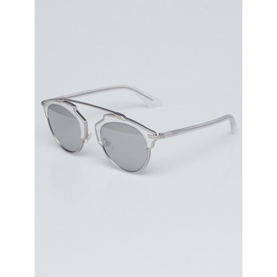 Christian Dior Silver Acetate So Real Brow Bar Sunglasses