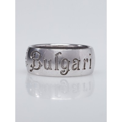 Bvlgari Sterling Silver 'Save the Children' Ring Size 6.5/54