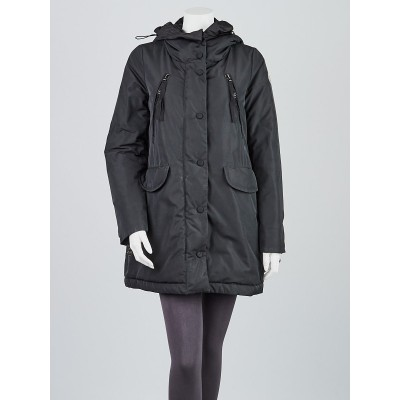 Moncler Black Polyester and Down Clayto Parka Coat Size 1/S