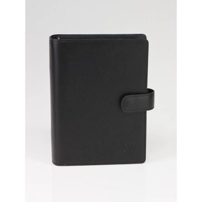 Louis Vuitton Black Leather Nomade Medium Agenda Notebook