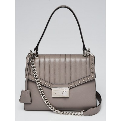 Prada Argilla Glace Calf Leather Studded Top Handle