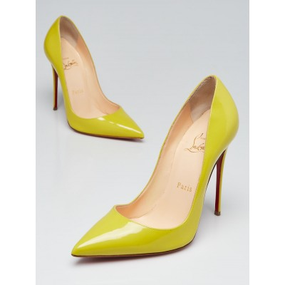 Christian Louboutin Mimosa Patent Leather So Kate 120 Pumps Size 5.5/36