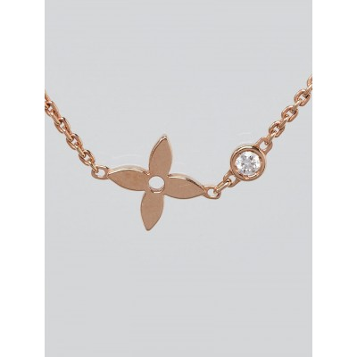Louis Vuitton 18k Pink Gold and Diamond Idylle Blossom Pendant Necklace
