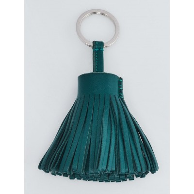 Hermes Malachite Milo Lambskin Leather Carmen Key Ring