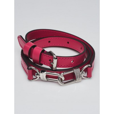 Louis Vuitton 16mm Hot Pink Leather Adjustable Strap