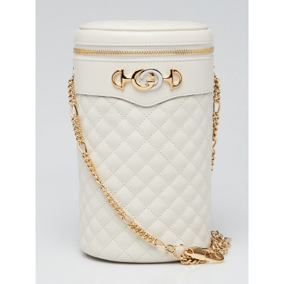 Gucci White Quilted Leather Trapuntata Crossbody/Belt Bag