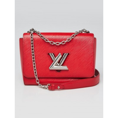 Louis Vuitton Coquelicot Epi Leather Twist MM Bag