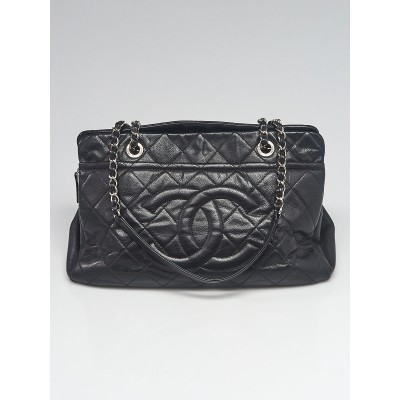 Chanel Black Quilted Caviar Leather Timeless CC Tote Bag