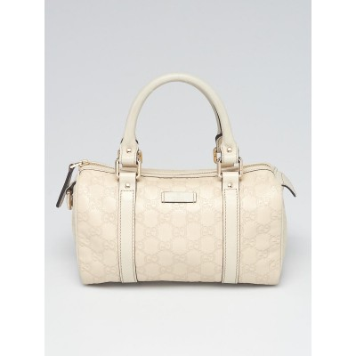 Gucci White Guccissima Embossed Leather Small Joy Bag