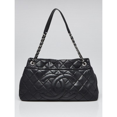 Chanel Black Quilted Caviar Leather Timeless Tote Bag