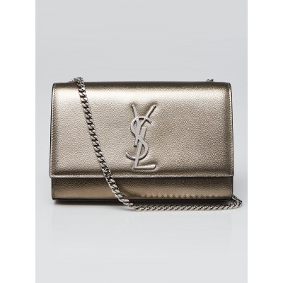 Yves Saint Laurent Bronze Grained Poudre Leather Small Kate Bag