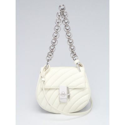 Chloe White Quilted Leather Mini Bijou Bag