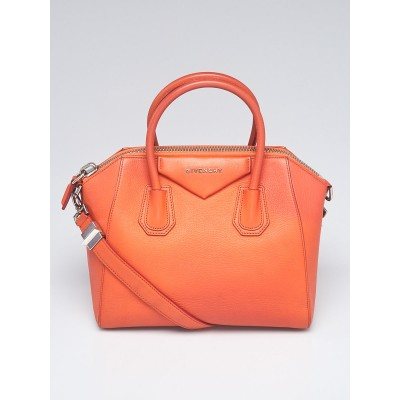 Givenchy Orange Sugar Goatskin Leather Small Antigona Bag